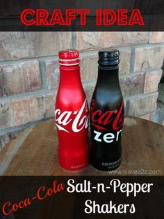 Hahaha I did these a year ago with coke cans from our honeymoon. Before I saw them on pinterest. I feel so smart