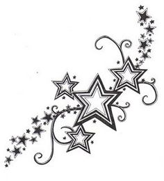 star tattoos for girls - Google Search - Click image to find more Art Pinterest pins