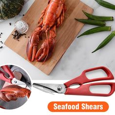 Ultimate Seafood Shears – avosando Kitchen Tools, Kitchen Gadgets, Swimming Pool Vacuum Cleaner, Wall Shelf Brackets, Crab Legs, Lobster Tails, Seafood Dinner, Cooking Tools, Scissors