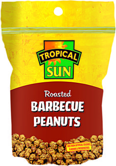 Delicious, crunchy and moreish Barbeque flavoured peanuts from Tropical Sun. Available in 160g reseal bags. What more could you want in life?
