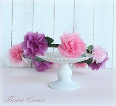 不織布のペーパー花カンムリ