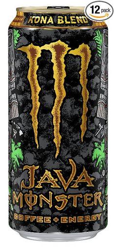 Java Monster Coffee Energy Drink, Kona Blend, 15 Ounce (Pack of 12)
