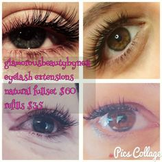 Natural Eyelash extensions 60 Refills 35 Qualified eyelash technician Mobile in Hume areahome salon, 1128287824