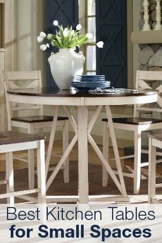 round blanca table | stacking chairs