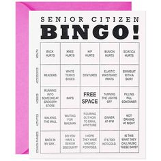 Funny Senior Citizen Bingo Birthday Card | Buy Now!
