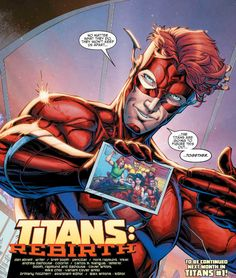 Former Kid Flash Wally West holy shit Marvel Vs, Marvel Dc Comics, Titans Rebirth, Nightwing And Starfire, Univers Dc, Kid Flash, Dc Comics Art, Detective Comics, American Comics