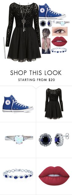 """"""" Ravenclaw Outfit #4"""" by nattiexo ❤ liked on Polyvore featuring Converse, BERRICLE and Lime Crime"""