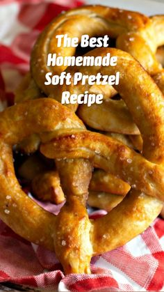 Homemade Soft Pretzels, Pretzels Recipe, Soft Pretzel Recipes, Yummy Snacks, Yummy Food, Tasty, Diy Food, Homemade Food, Appetizer Recipes