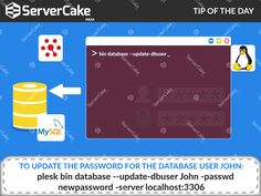 How to update the password for the database user john? Ans: To update the password for the database user john, plesk bin database --update-dbuser john -passwd newpassword -server localhost:3306