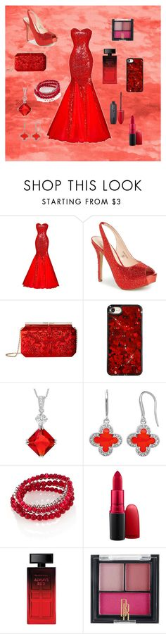 """#niki allen0119"" by stripes21 ❤ liked on Polyvore featuring Lauren Lorraine, Oscar de la Renta, Journee Collection, Marie Claire, Accessory PLAYS, MAC Cosmetics, Elizabeth Arden, Black Radiance and Revlon"