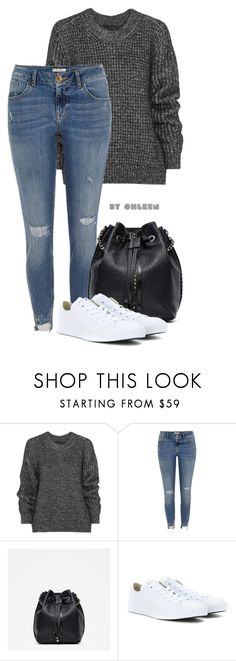 """""""Untitled #118"""" by modestsisterz ❤ liked on Polyvore featuring Belstaff, River Island, Zara and Converse"""