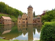 Schloss Mespelbrunn (lakefront)  - Mespelbrunn, Germany