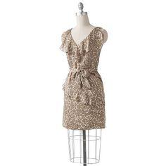 $19.20 ELLE Animal Asymmetrical Faux-Wrap Dress