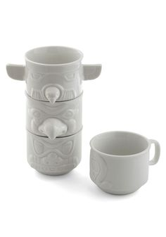 Stacked in Your Flavor Mug Set - White