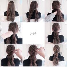 Wedding hairstyles ponytail tutorial new ideas Work Hairstyles, Quick Hairstyles, Pretty Hairstyles, Wedding Hairstyles, Wedding Updo, Hairstyle Ideas, Coiffure Hair, Ponytail Tutorial, Twist Ponytail
