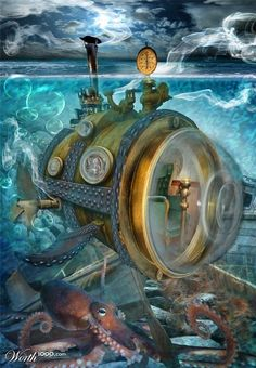 Steampunk: Ocean Craft! - Worth1000 Contests>>>>these are pic, but would be fun to make steam punk ocean vessels out of recyclables.