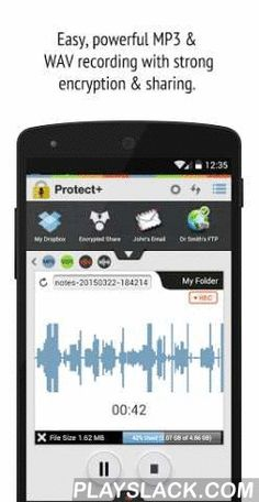 Protect+ Voice Recorder Free  Android App - playslack.com , Record. Encrypt. Send. All with a single touch. It's that easy! The Protect+ Voice Recorder with Encryption is a full-featured recording app with a simple, elegant interface. Whether you're a doctor, lawyer, or student... or in business or the media... or anyone who needs to record or dictate voice or other audio, there is finally a solution that makes recording, encrypting and uploading those important files quick and easy…