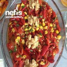 Közlenmiş Kırmızı Biber Salatası Pasta, Chicken, Meat, Food, Eten, Noodles, Meals, Cubs, Pasta Dishes