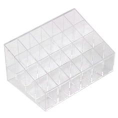 Leegoal 24 Stand Transparent Plastic Trapezoid Makeup Cosmetic Organizer Display Stand