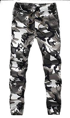 25129ed368d Men Pants Camouflage Cargo Pants Army Military Fitness Workout Trousers  Elastic Waist Hip Hop Pencil Men Clothing Plus Size