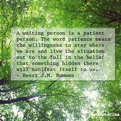 Henri Nouwen quote on patience - fionalynne.com