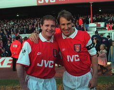 """""""Paul Gascoigne and Paul Merson before Merson's testimonial game, Arsenal Football, Arsenal Fc, Arsenal Shirt, Green Pictures, Great Team, Kobe Bryant, Football Shirts, Superstar, Soccer"""