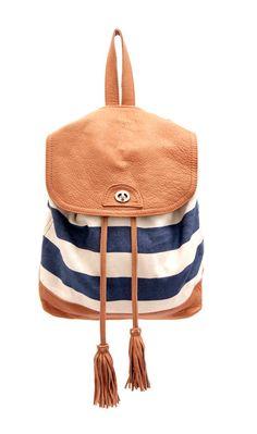 Stripe backpack