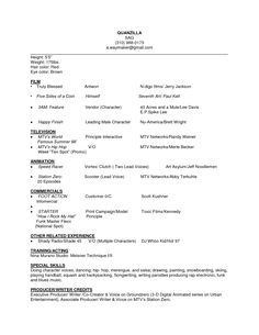 Sample Talent Resume Pleasing Actor Resume Template Gives You More Options On How To Write Your .