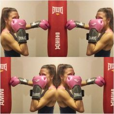 Me against Myself.  And I won.  In round 1.  #boxing #boxinggirls #mma #heavybag #punchingbag #everlast #pinkgloves #punches #fit #focus #fitness #gym #power #fighter #boxer #grind #sparring #exercise #dedication #motivation #discipline #endurance #jab  #hook #uppercut #energy #powerful #borntobox #boxinggirlsdoitbetter Never Stop. Not a Quitter. #Determined by thisisromi