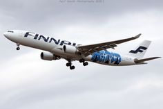 Marimekko's infamous and already removed Forest Dwellers -livery. #finnair #marimekko #forest dwellers #a330 #aviation
