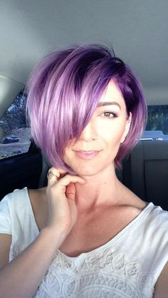 New Hair Purple Pixie Awesome 53 Ideas Short Purple Hair, Purple Pixie, Violet Hair, Lavender Hair, Haircut And Color, Pastel Hair, Bright Hair, Cool Hair Color, Hair Colors