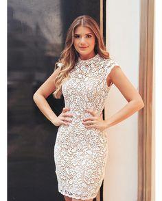 {Ver17} Dress perfeito de guipir e forro nude! @arianecanovas @mdee #prontapraarrasar #lindademais #vestidoguipir #lookdodia