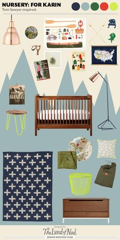 Tom Sawyer Inspired Boys Nursery by The Land of Nod's Design Services Team