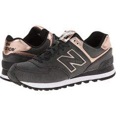 New Balance Classics WL574 - Precious Metals Women's Lace up casual... (160 LTL) ❤ liked on Polyvore