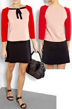 Moschino Cheap & Chic Colour Block Wool Knit Dress