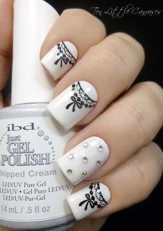 45 Chic White Nails Art Designs to try in 2016