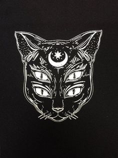 i think this is dope. not sure if it would work with hamster eyes though since hamster eyes are not sexy and mysterious. The cat soul patch All patches are printed on black fabric. these measure out to be about Tattoo Chat, Cat Tattoo, Tattoo Drawings, Art Drawings, 3rd Eye Tattoo, Soul Tattoo, Tattoo Sketches, Psychedelic Art, Dessin Old School