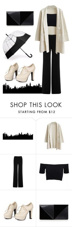"""""""LFW"""" by felizim ❤ liked on Polyvore featuring Diane Von Furstenberg, American Apparel, Sidewalk, UN United Nude, Hunter, women's clothing, women, female, woman and misses"""