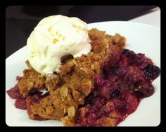 Blueberry & Raspberry Pudding Cake Cobbler | Caroline's Edible Creations