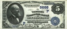 US $5 2nd Charter Period National Bank Note