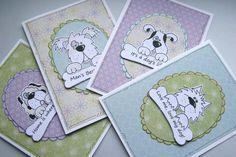 Doggy Sayings  Set of four DogThemed Blank by CraftyMushroomCards, £4.75