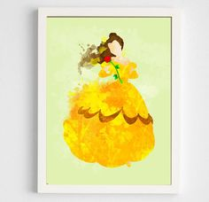 Disney: Beauty and the Beast Belle Poster Digital by geektragedy Princess Wall Art, Geek Room, Canvas Art, Painting Canvas, Disney Beauty And The Beast, Wall Art Decor, Room Decor, Easy Watercolor, Wall Art Prints