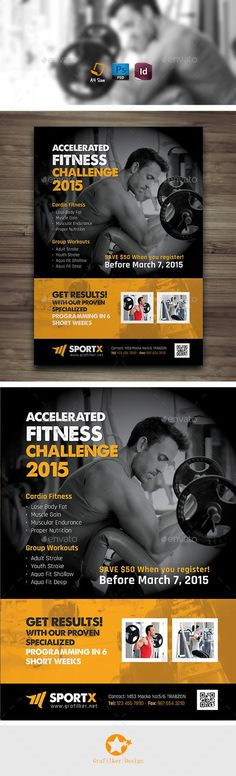 Fitness Flyer  Events Flyer Template And Template