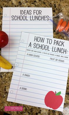 packing lunches gets monotonous, but here is a tutorial sheet to help keep it fresh! a gift that keeps on giving.