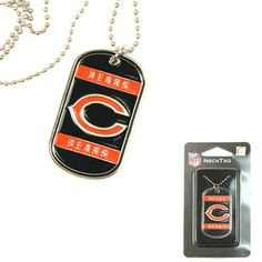Chicago Bears NFL Dog Tag Necklace