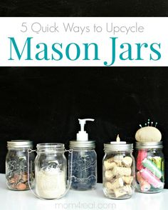 5 Quick Mason Jar Ideas That Take Minutes!