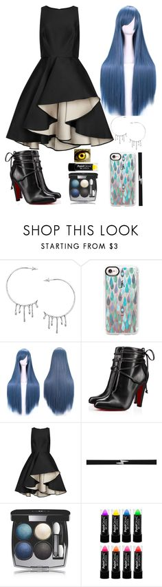 """""""Rain & Thunder"""" by lucy-wolf ❤ liked on Polyvore featuring Annika Burman, Casetify, Christian Louboutin, Halston Heritage, EF Collection and Chanel"""