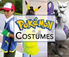 Gotta catch 'em all! This Halloween you can catch them all by dressing up as a trainer, or go the other direction and dress like your favorite Pokémon. There are hundreds to choose from. Try one of the fun costumes below, or create your own inspired by your favorite character!