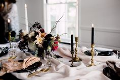 moody fall brunch party - tip: buy fabric squares of various shades and patterns to use as napkins. the frayed edges give a cool undone look