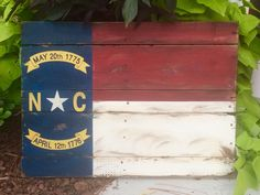 North Carolina State Flag on Reclaimed Wood by SignsfromthePines on Etsy https://www.etsy.com/listing/238806026/north-carolina-state-flag-on-reclaimed